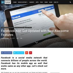 Facebook App Got Updated with New Awesome Features