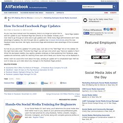 How To Send Facebook Page Updates