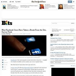 Most Facebook Users Have Taken a Break From the Site, Survey Finds