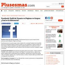 Facebook: Perfil de Usuario vs Páginas vs Grupos: ¿Cual es la Diferencia?