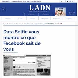 Data Selfie montre comment Facebook utilise nos données