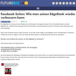 Facebook Seiten: Wie man seinen EdgeRank wieder verbessern kann