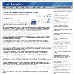 Facebook en la vida de los adolescentes