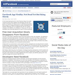 Facebook App Virality: Not Dead Yet But Dying Slowly