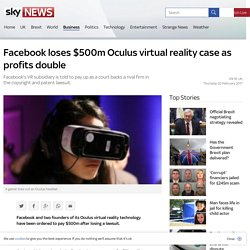 Facebook loses $500m Oculus virtual reality case as profits double