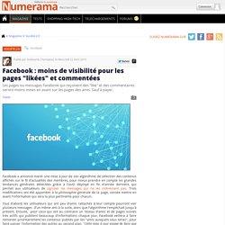 """Facebook : moins de visibilité pour les pages """"likées"""" et commentées"""