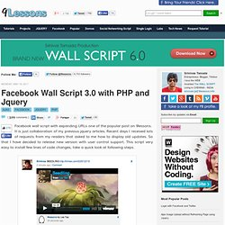Facebook Wall Script 3.0 with PHP and Jquery