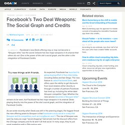 Facebook's Two Deal Weapons: The Social Graph and Credits: Tech News and Analysis «