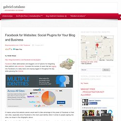 Facebook for Websites: Social Plugins for Your Blog and Business « gabriel catalano | in-perfección