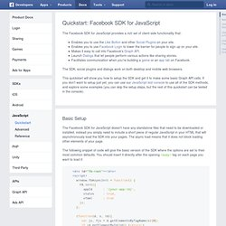 for Websites - Développeurs de Facebook