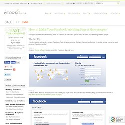 Facebook Wedding Guide - How to Make a Wedding Page on Facebook - Storkie
