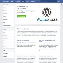 for WordPress - Développeurs Facebook