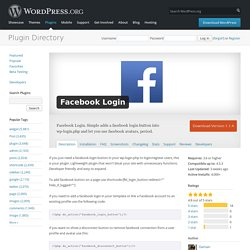 Facebook Login — WordPress Plugins