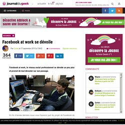 Facebook at work se dévoile
