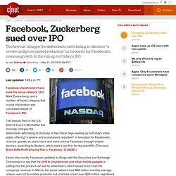 Facebook, Zuckerberg sued over IPO | Internet & Media
