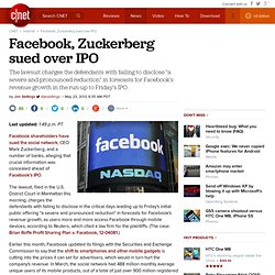 Facebook, Zuckerberg sued over IPO