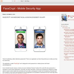 FACECRYPT- AN AWESOME FACIAL ACKNOWLEDGEMENT IOS APP!