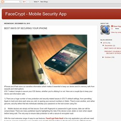 FaceCrypt - Mobile Security App: BEST WAYS OF SECURING YOUR IPHONE