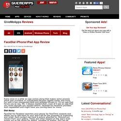 FaceDial iPhone/iPad App Review