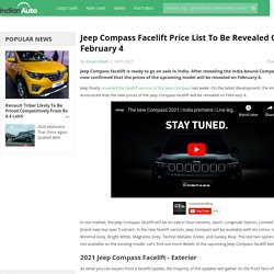 Jeep Compass Facelift Price List To Be Revealed On February 4