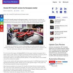 Honda CR-V facelift version for European market - Fast Cars