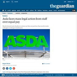 Asda faces mass legal action from staff over equal pay