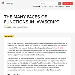 The Many Faces of Functions in JavaScript - - Bocoup