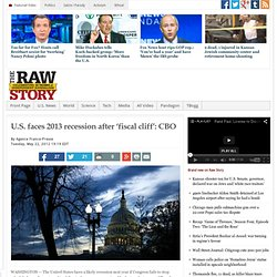 U.S. faces 2013 recession after 'fiscal cliff': CBO