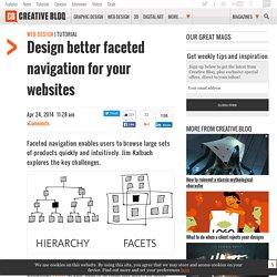 Design better faceted navigation for your websites