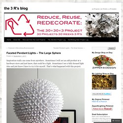 Faceted Pendant Lights – The Large Sphere