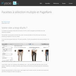 Facettes en sélection multiple : trop de pages identifiées par Google ! Kysoe