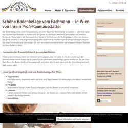 Fachmann für Bodenbeläge im Raum Wien