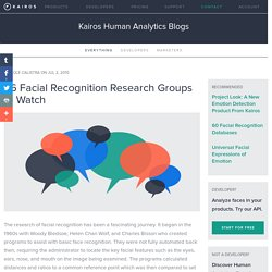 56 Facial Recognition Research Groups to Watch