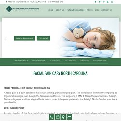 Facial Pain treatment in Cary North Carolina at Smiles of Cary