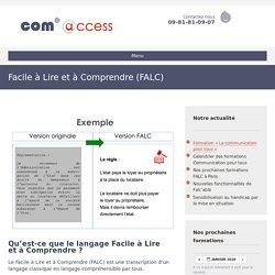 Facile à Lire et à Comprendre (FALC) - Com'access