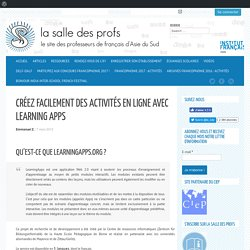 Créez facilement des activités en ligne avec Learning Apps
