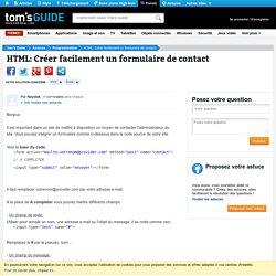 HTML: Créer facilement un formulaire de contact