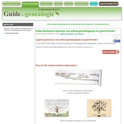 Faites facilement imprimer vos arbres généalogiques en grand format ! - Blog du guide de généalogie