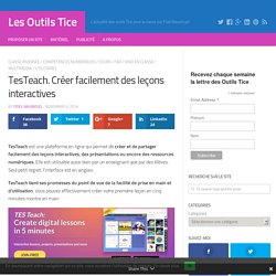 TesTeach. Créer facilement des leçons interactives – Les Outils Tice
