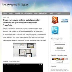un service en ligne gratuit pour créer facilement des présentations et remplacer PowerPoint