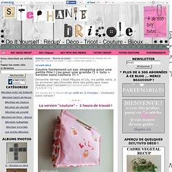 Coudre facilement un sac shopping pour une petite fille ! (ou pour une grande !) + tuto « version sans couture !!! »