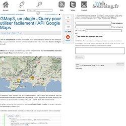 GMap3, un plugin JQuery pour utiliser facilement l'API Google Maps