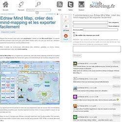 Edraw Mind Map, créer des mind-mapping et les exporter facilement
