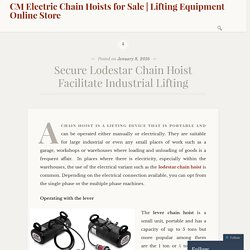 Secure Lodestar Chain Hoist Facilitate Industrial Lifting