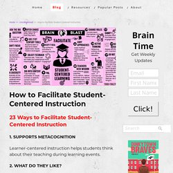 How to Facilitate Student-Centered Instruction