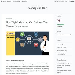 How Digital Marketing Can Facilitate Your Company's Marketing - seoheights's blog