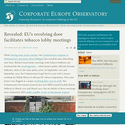 Revealed: revolving door facilitates tobacco lobby meetings