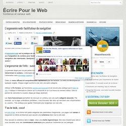L'ergonomie web: facilitateur de navigation