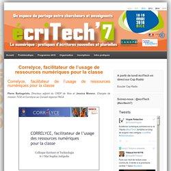 Correlyce, facilitateur de l'usage de ressources numériques pour la classe