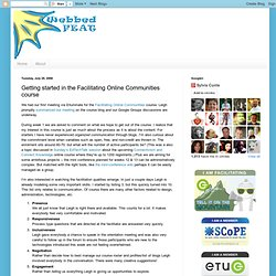 Getting started in the Facilitating Online Communities course (N